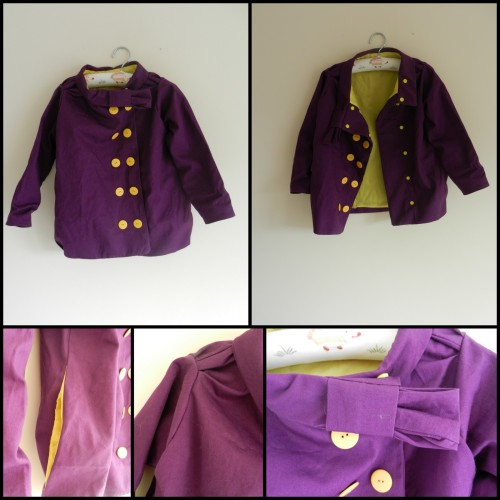 Five and Ten designs Volume 2 Look 3 in purple twill and yellow taffeta